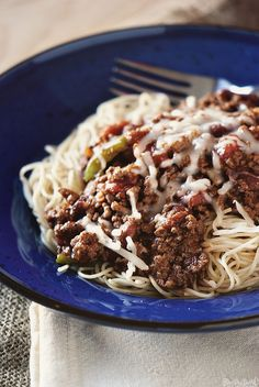 Cincinnati Chili RECIPE - Ohio. I've made Chili Spaghetti for years and years.....  LOVE it!  I will admit I do a mock chili recipe though but it's still wonderful!  In fact, just made some a few days ago and could go for more.....