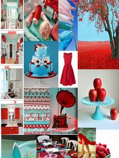 #turq and red---love these colors together!