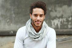 loop / scarf Stale  light grey jersey by pikfine on Etsy, €19.95