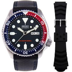 Seiko Automatic Watch with additional band Seiko Automatic Watches, Seiko Watches, Seiko Skx, Cartier, Authentic Watches, Vintage Watches For Men, Watch Model, Beautiful Watches, Band