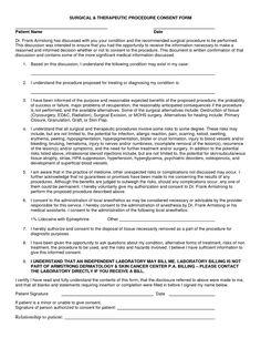 Surgery Informed Consent Form Template   Consent form   Pinterest ...