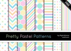 FREE for personal and commercial use. Comments and credits are always greatly appreciated. If you use them I would really like to see your work! Enjoy! Download it HERE: Pretty Pastel Patterns For ...