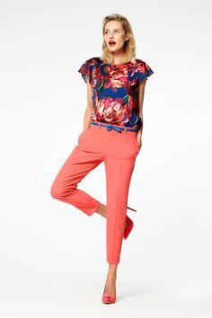 Dames pantalon met rechte pijpen Roze
