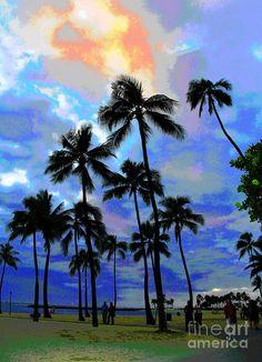 Waikiki Beach Dusk