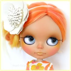 Retro Custom Blythe Doll Cricket By Angel~Lily (with alpaca ombre re-rooted hair) https://www.facebook.com/angellily.customblythes