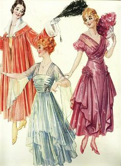 Edwardian Fashion, 1916 Ladies