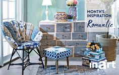 March is all about: romantic style! The arrival of Spring and the blooming nature all around us, was the inspiration behind this month's look. Read all about it here http://www.inart.com/en/blog/months-inspiration-romantic-furniture.html
