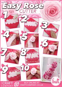 Easy Rose Cutter - For all your cake decorating supplies, please visit craftcompany.co.uk