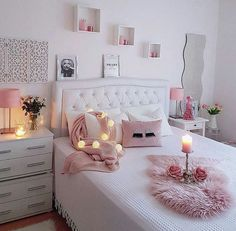 43 cute and girly bedroom decorating tips for girl 8 Girl Bedroom Designs Bedroom Cute Decorating Girl Girly tips Room, Room Inspiration, Bedroom Decorating Tips, Bedroom Inspirations, Room Decor, Bedroom Decor, Cute Bedroom Ideas, Girl Bedroom Decor, Trendy Bedroom