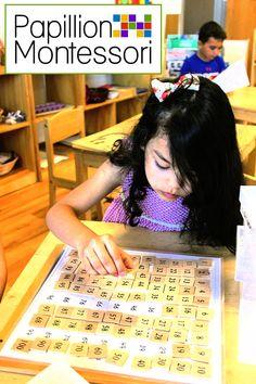 Montessori learning at Papillion Montessori