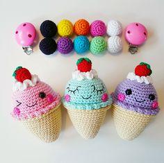 Ice Cream Stroller Mobile crochet pattern by Super Cute Design