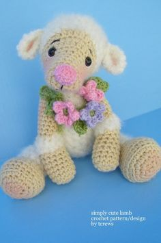 Crochet Pattern Lamb by Teri Crews instant by WoolandWhims  Etsy Store Shout.  That is the sweetest, cutest Lamb ever!