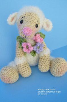 Lamb Crochet Pattern by Teri Crews PDF Format by WoolandWhims, $4.95