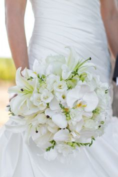 green and white boquet... Love this but I think I would want it smaller.
