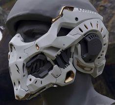 Sci-Fi Helmet by Michael Weisheim Beresin Futuristic Helmet, Futuristic Armour, Armor Concept, Weapon Concept Art, Mode Cyberpunk, Armadura Cosplay, Tactical Armor, Sci Fi Armor, Cyberpunk Character
