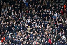 Derby County supporters at Fulham's Craven Cottage