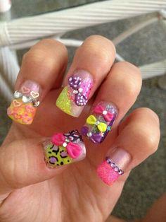 Junk nail & glitter nail | NAILS  | Pinterest | Glitter nails