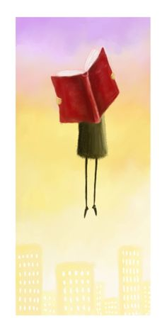 HOW TO FLY © Pete REVONKORPI (Artist, Finland) aka Pesare via deviantart. Books help you soar above it all :-)