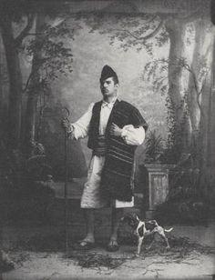 Fotos antiguas: huertano de Murcia y su perro.