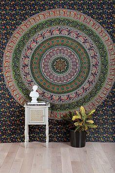 Floral Medallion Tapestry