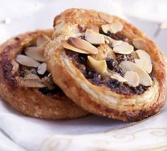 These aren't really pies - they're more like Catherine wheels or miniature Danish pastries and are great fun for Christmas