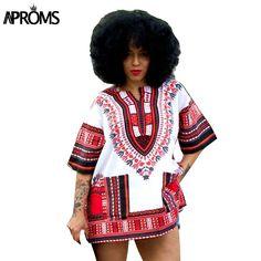 Vêtements traditionnels Africains pour Femmes Chemise Mens Classique Bazin Riche Dashiki Tops Plus La Taille Automne Imprimer Blouses 10716