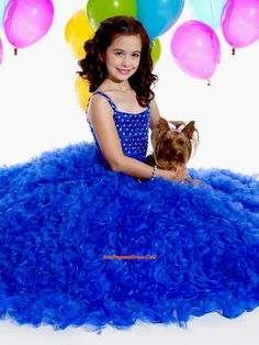 Little Girl Pageant Dresses,Exclusive Ball gown Strap floor length  Pageant Dress for Girls by Tiffany Princess 13269