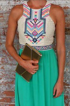 Summer Sleeveless Printed Maxi Dress