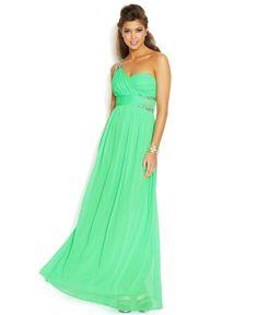City Studios Juniors' One-Shoulder Rhinestone Dress - Juniors Shop All Prom Dresses - Macy's