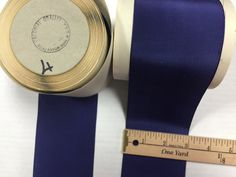Vintage Navy Taffeta Ribbon, Silk Rayon, sold by the Yard, Made in USA. by AnafrezNotions on Etsy