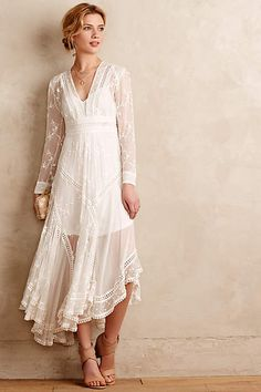 Arcana Silk Dress - anthropologie.com // expensive for a dress, but less than a lot of wedding dresses