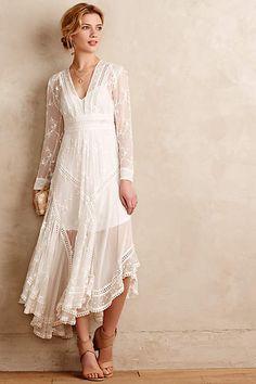 Arcana Silk Dress - anthropologie.com // expensive for a dress, but less than a lot of wedding dresses
