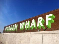 Via @Rebecca Dyson: Morden Wharf just a small sign ...