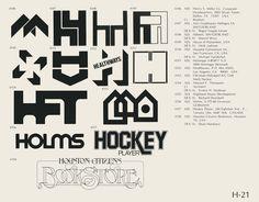 Eric Carl Collection of vintage logos from a edition of the book World of Logotypes jpg Logos Trademark Symbol, Logo Luxury, Vintage Logo Design, Vintage Logos, Graphic Design, Brand Symbols, Logo Shapes, Old Logo, School Logo