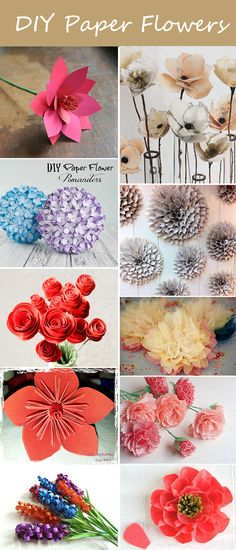 DIY paper flowers wedding decor ideas