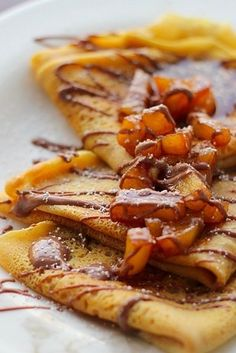 Pumpkin Crepes with Ale-Glazed Cinnamon Apples | 19 Boozy Breakfast Treats That Are Worth Waking Up For
