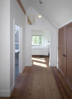 This attic remodel makes the space feel pretty large, though I doubt it actually is.