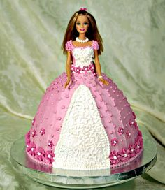 Barbie Cake~~this is what Emily wants for her 17th birthday.  way beyond my skills