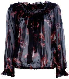 3a94716fd94c6 Alexander McQueen Silk blouse on shopstyle.com Black Silk Blouse