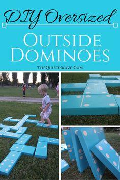 DIY Oversized Outside Dominoes