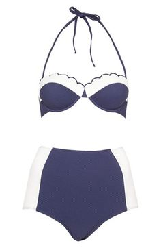 Scalloped High Rise Swimsuit <3