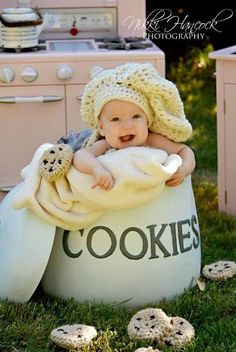Baby Chef Hat - Crocheted Photo Prop or Costume NB through 5T