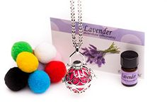 Essential Oil Diffuser Jewelry Aromatherapy Necklace Classic with Lavender Essential Oil *** See this great product.