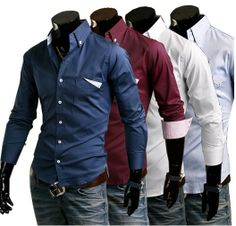 2013 New  Fashion Stylish Casual Slim Fit Men's Shirt Solid Color Long Sleeve Turn-down Collar Polo Shirt Free Shipping 9025 $13.99 New Fashion, Trendy Fashion, Business Trendy, Mens Flannel Shirt, Polo Shirt, Hollywood Fashion, Boy Outfits, Shirt Style, Winter Jackets