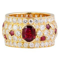 CARTIER PANTHERE Diamond Ruby and Gold Band