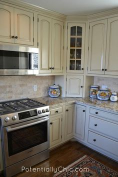 Lighter and Brighter Kitchen in Linen Milk Paint and Van Dyke Brown Glaze Effects   General Finishes Design Center