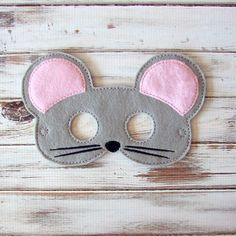 Mouse Mask - Felt - Kids Mask - Costume - Dress Up - Halloween - Pretend Play by AnnsCraftHouse on Etsy