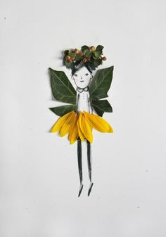 Nature Paper Dolls. I love this creative fall craft for kids!