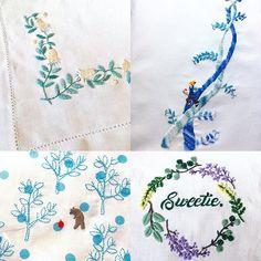 西荻窪の刺繍教室『アンナとラパン』参加者さんの作品。 左上はナフキンの二箇所の隅に刺繍されています「ワードローブを彩るannasの刺しゅう教室」の図案。 左下はハンカチに刺繍されています(ᵔᴥᵔ) 右上はジャックと豆の木。図案すら行方不明で💦そんな中、無理やり図案を起こしていただいた作品。 リースは、最近の私の新作図案ですが、早いですね!✨✨ ・ ・ #刺繍 #手刺繍 #ミモザリース #ミモザ #ジャックと豆の木 #くま #needlework #手芸 #ステッチ #刺しゅう  #ハンドメイド #자수  #ししゅう #手作り #手芸 #ハンドメイド  #刺繡 #刺繍部 #暮らし #趣味 #趣味の時間  #embroidery  #자수 #вышивка #broderie #ししゅう #手作り #手芸 #ハンドメイド  #刺繡  #刺繍部 #bordado