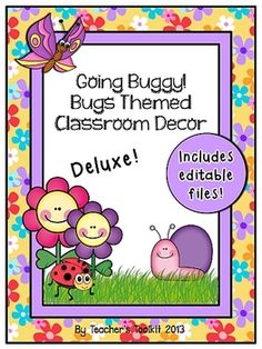 Going Buggy!  Bugs Themed Deluxe Classroom Decor Set {plus